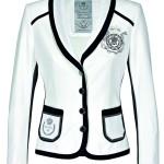 Sportovně elegantní sako, směs přírodních materiálů, efektní lemování, Sportalm