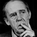 Duitse schrijver Heinrich Böll geeft een persconferentie in Heerlen*26 maart 1983