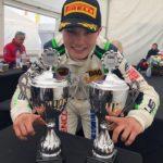 Lirim Zendeli a jeho trofeje ze sobotních závodů