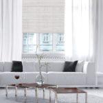 Picture of amazing white loft living room interior