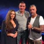 Saša, legenda Peter Aerts a modrátor Matouš Rajmont ve studiu Sport 5 TV